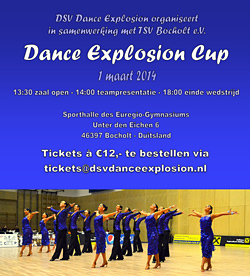 Poster Dance Explosion Cup 2014